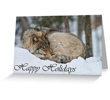 Timber Wolf Holiday Card 7 Greeting Card