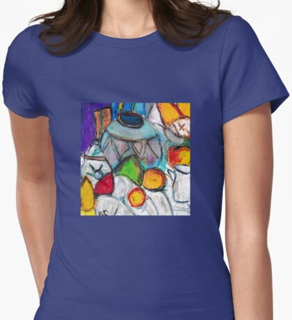 Pottery & Fruit (after Cezanne) Womens Fitted T-Shirt