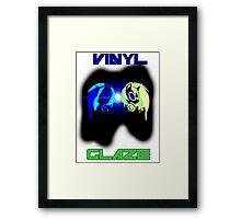 Vinyl Scratch and Glaze Framed Print