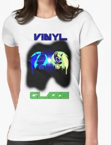 Vinyl Scratch and Glaze Womens Fitted T-Shirt