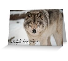 Timber Wolf Christmas Card Dutch 8 Greeting Card