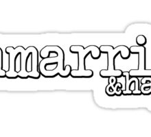 Unmarried and happy Sticker