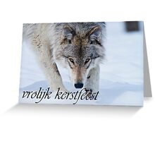Timber Wolf Christmas Card Dutch 12 Greeting Card
