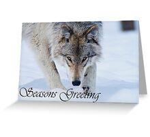 Timber Wolf Seasons Card 12 Greeting Card