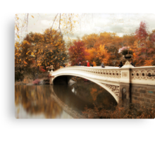 Bow Bridge Autumn Canvas Print