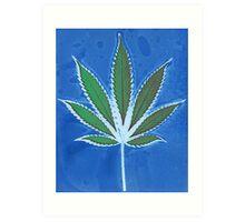 Hemp Lumen #8 Leaf Marijuana/Cannabis/Weed Art Print
