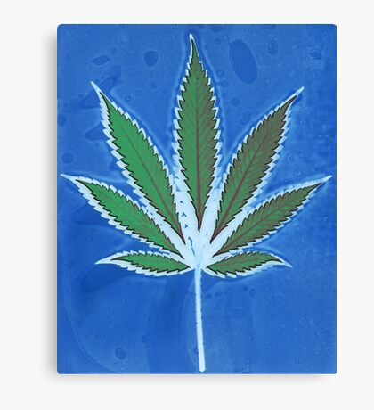 Hemp Lumen #8 Leaf Marijuana/Cannabis/Weed Canvas Print