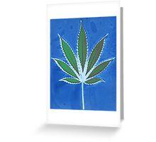 Hemp Lumen #8 Leaf Marijuana/Cannabis/Weed Greeting Card