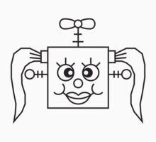Funny Robot Girl Face by Style-O-Mat