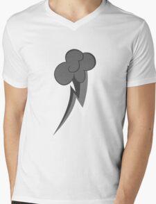 Grey Tone Rainbow Dash Cutie Mark Mens V-Neck T-Shirt