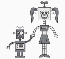 Funny Robot Couple by Style-O-Mat