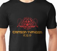 Crimson Typhoon (red and gold) Unisex T-Shirt