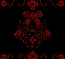 Roses & Rotten Apples - Gothic Red by Samantha Johnson