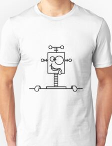 Funny Crazy Robot Behind Wall T-Shirt