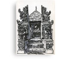 Bali : Market Temple Canvas Print