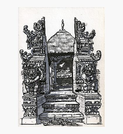 Bali : Market Temple Photographic Print