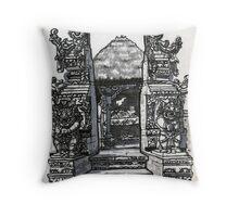 Bali : Market Temple Throw Pillow
