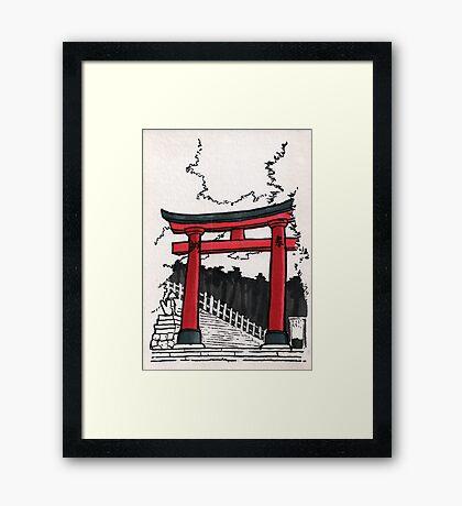 Japan : Fushimi Inari Framed Print
