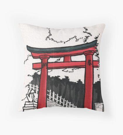 Japan : Fushimi Inari Throw Pillow