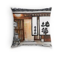 Japan : Kurashiki Liquor Store Throw Pillow