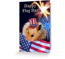 Flag Day Hamster Greeting Card