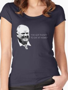 "Mayor Rob Ford- ""I've got enough to eat at home!"" (White Lettering) Women's Fitted Scoop T-Shirt"