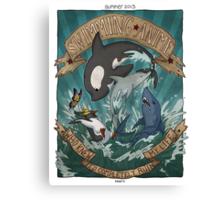 Swimming Anime Canvas Print