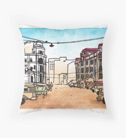 Philippines : Escolta Throw Pillow