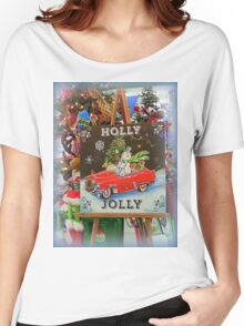 Christmas Holly Jolly Sign Women's Relaxed Fit T-Shirt