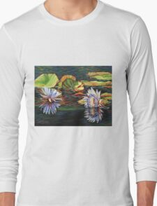 Mirrored Lilies Long Sleeve T-Shirt