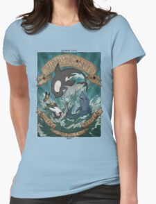 Swimming Anime Womens Fitted T-Shirt