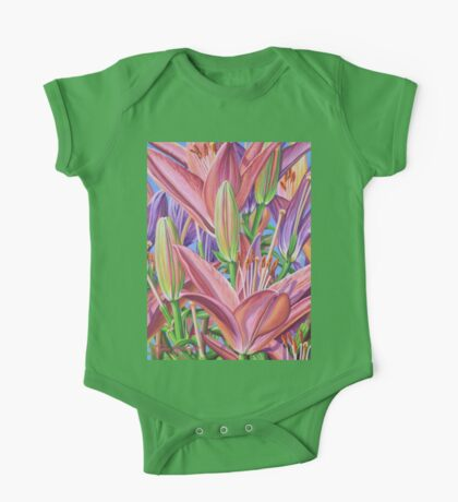 Field Of Lilies One Piece - Short Sleeve