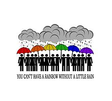 Rainbow of Umbrellas - LGBT Pride by LiveLoudGraphic