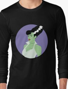 Bride of Frankenstein Pinup Long Sleeve T-Shirt