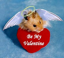 Be My Valentine Angel Hamster by jkartlife
