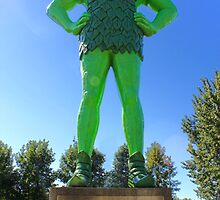 Jolly Green Giant statue in Blue Earth Minnesota by GregorDyer