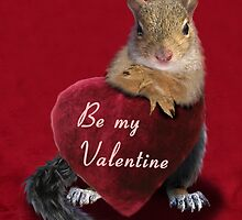 Be My Valentine Squirrel by jkartlife