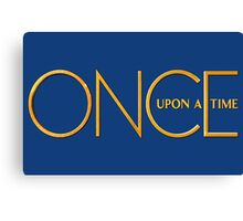 Once Upon A Time - logo Canvas Print