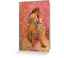 Fuchsia  Daze Greeting Card