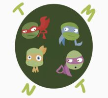 TMNT four brothers cutie style Kids Tee