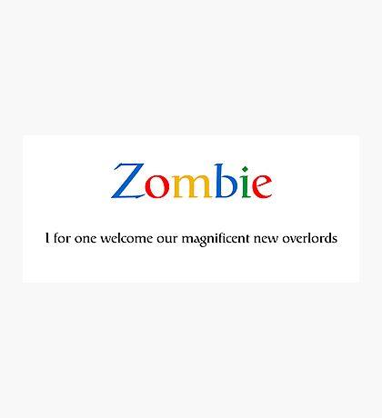 Google Zombie Photographic Print