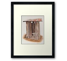 The out house.. Framed Print