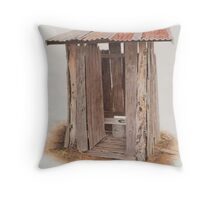 The out house.. Throw Pillow