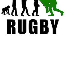 Rugby Tackle Evolution (Green) by kwg2200