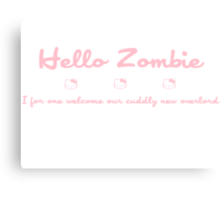 Hello Kitty Zombie - Pink Canvas Print