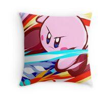 Kirby   Vulcan Kick Throw Pillow
