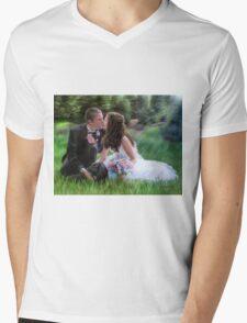 Smith Wedding Portrait Mens V-Neck T-Shirt