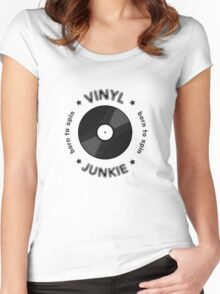 Vinyl Junkie - Born To Spin Women's Fitted Scoop T-Shirt