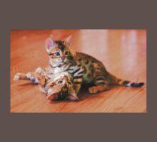 Bengal Kittens at Play Baby Tee