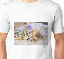 Bengal Kitten Sleeping Unisex T-Shirt